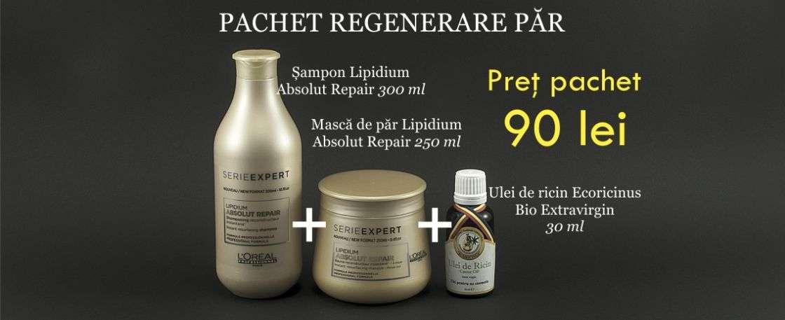 Promotie pachet cosmetic pentru par si regenerare par